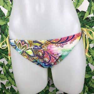 5 for $25 Becca Watercolor Paisley Side Tie Bikini